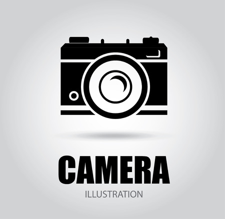 Camera design over gray background, vector illustration Vector