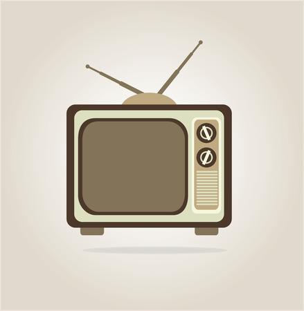 bottons: antique tv design over gray background, vector illustration