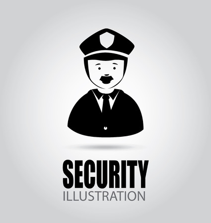 watchmen: Security design over gray background, vector illustration Illustration