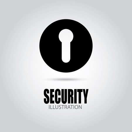 keylock: Security design over gray background, vector illustration Illustration