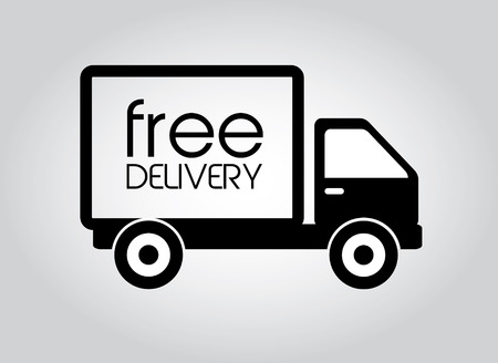 Delivery design over gray background, vector illustration Illustration