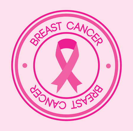 Breast cancer design over pink background, vector illustration Vector