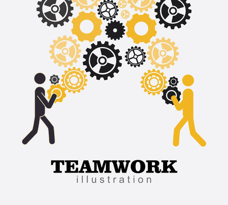 Teamwork design over gray background, vector illustration