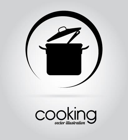 Küchenplanung über grauem Hintergrund, Vektor-Illustration