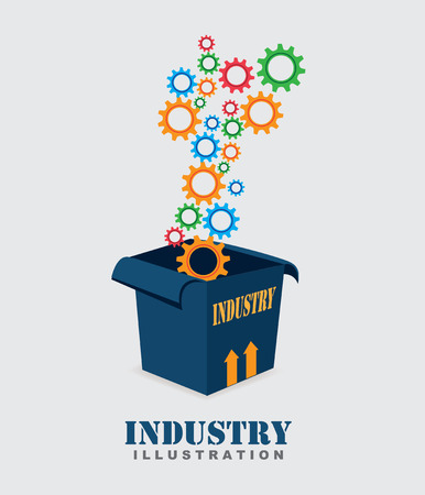 Industry design over gray background, vector illustration Vector