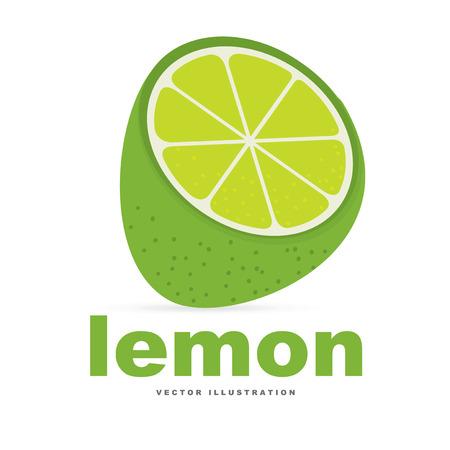 limon: Fruits design over white background, vector illustration Illustration