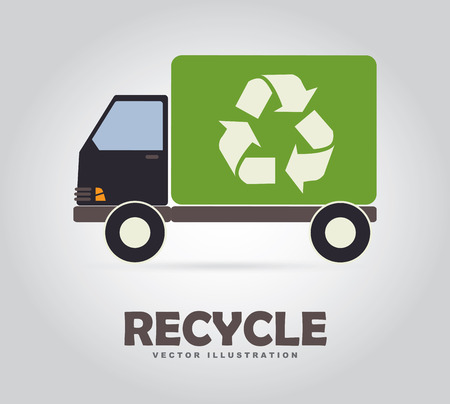 reduce reuse recycle: Recycle design over gray background, vector illustration