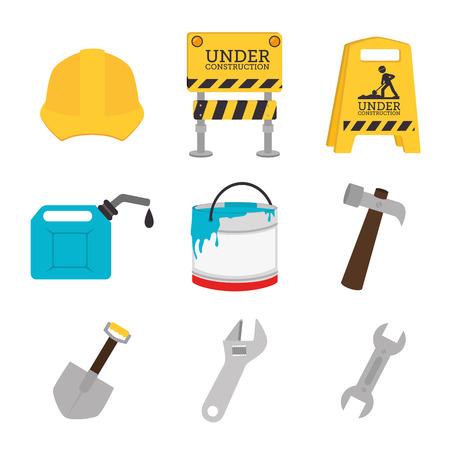 construction design over white background, vector illustration Vector