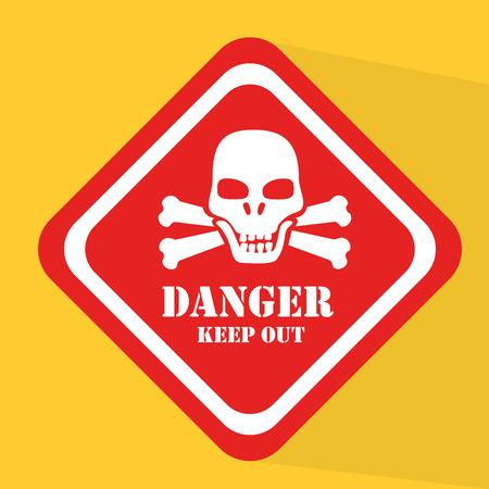 Advert design over yellow background, vector illustration Stock Vector - 26854805