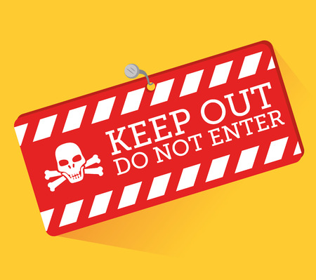dangerous construction: Advert design over yellow background, vector illustration