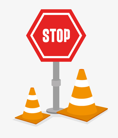 dangerous construction: Advert design over white background, vector illustration