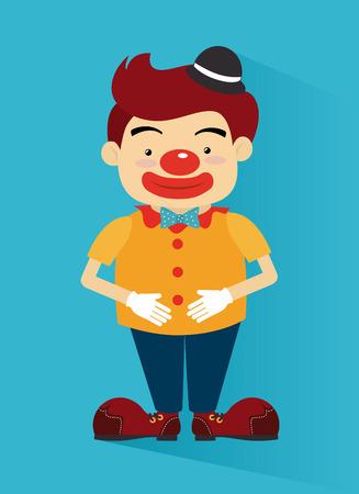 cirque: Disegno Circo su sfondo blu, illustrazione vettoriale Vettoriali