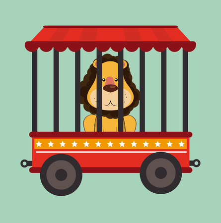 gaol: Circus design over green background, vector illustration Illustration