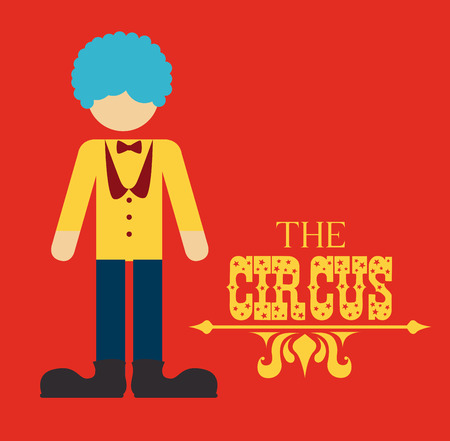 Circus design over red background, vector illustration Stock Vector - 26854614