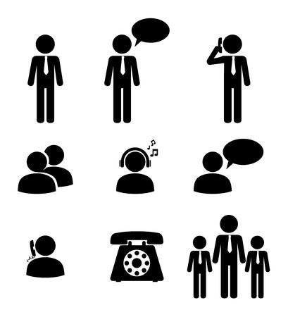 People design over white background, vector ilustration Ilustração