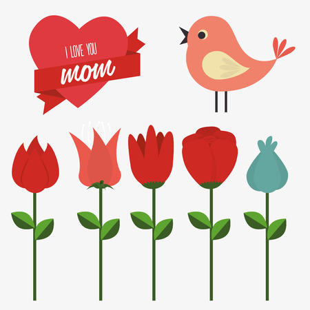 Mothers day design over gray background, vector illustration
