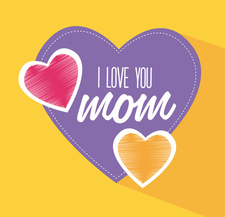 you are special: Mothers day design over yellow background, vector illustration Illustration