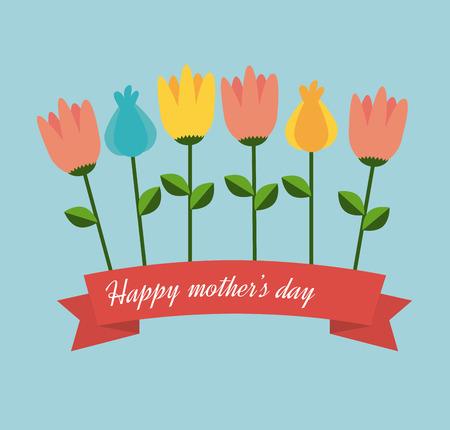 Mothers day design over blue background, vector illustration Vector