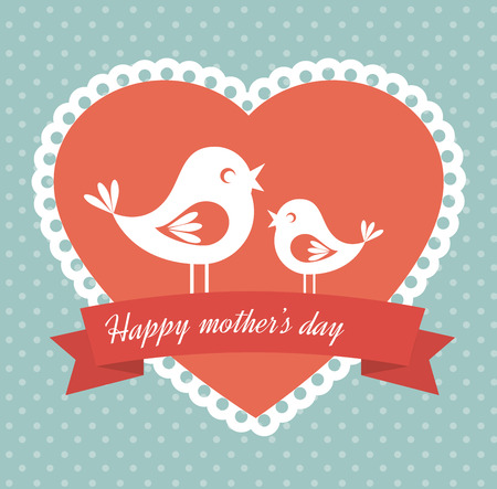 Mothers day design over blue , vector illustration Vector