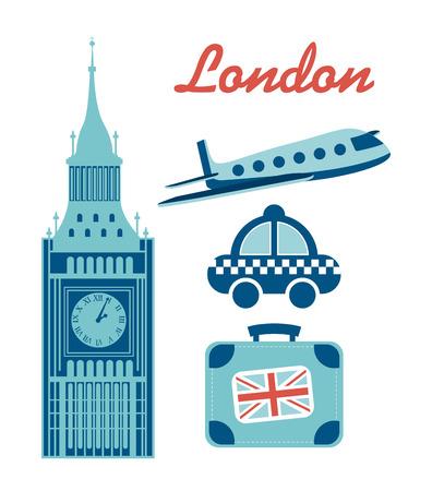 bigben: travel design over white background  Illustration