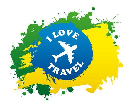 travel design over white background