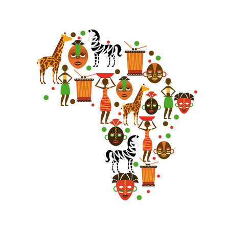 Africa design over white background Vector