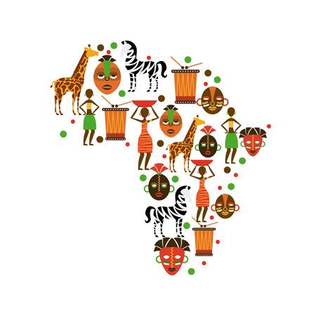 El diseño de África sobre el fondo blanco