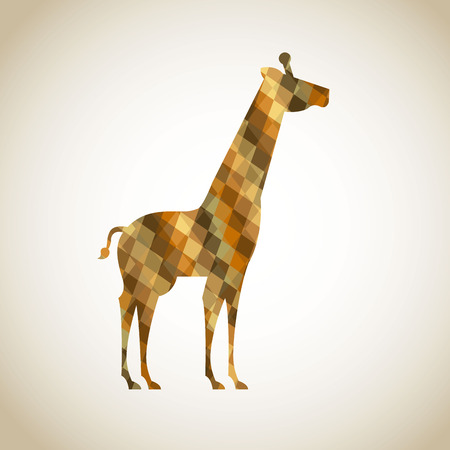 Africa giraffe  design over beige background Vector