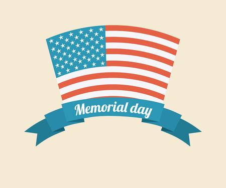 Memorial Day design over beige background, vector illustration