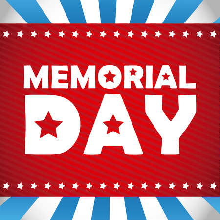 Memorial Day design Ilustrace