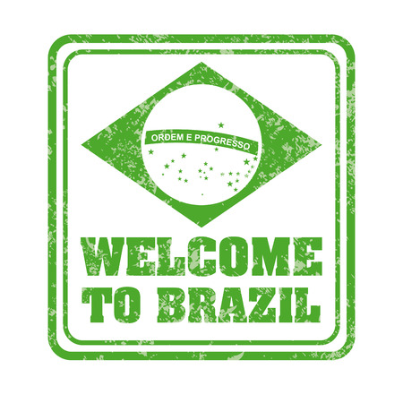 Brazil design over white background Vector