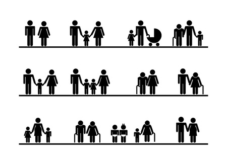 hapiness: Family design over white background