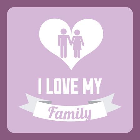 hapiness: Family design over purple background Illustration