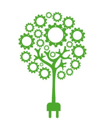 enviromental: Ecolog�a de dise�o sobre fondo blanco