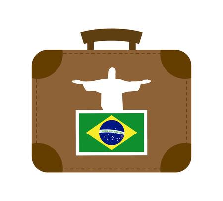 corcovado: travel design over  white background