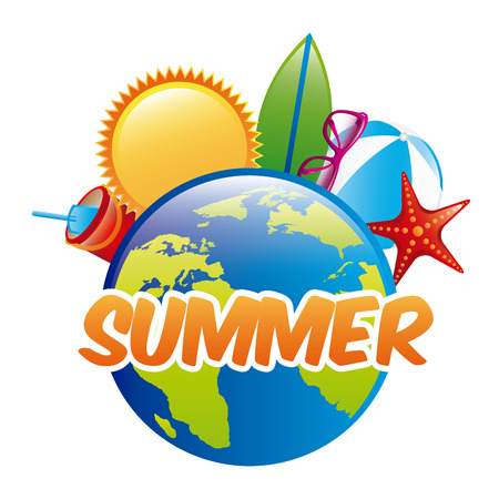summer design over white background Vector