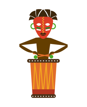 Africa design over white background Vector
