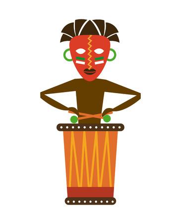 Africa design over white background Illustration