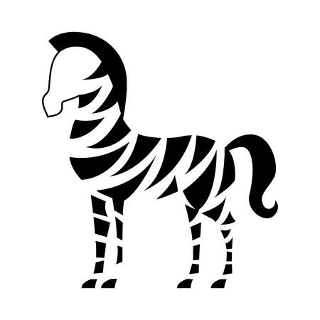 Africa zebra  design over white background Vector