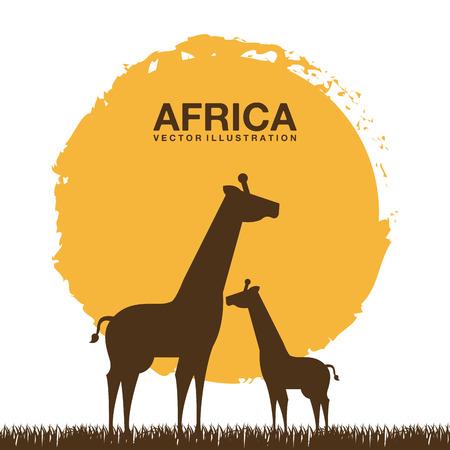 Africa design over white background, vector illustration Vector
