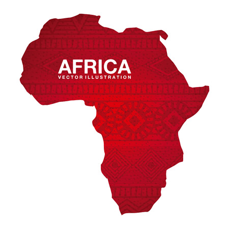 El diseño de África sobre el fondo blanco Ilustración de vector