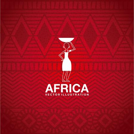 wallpapaer: Africa design over  red background, vector illustration