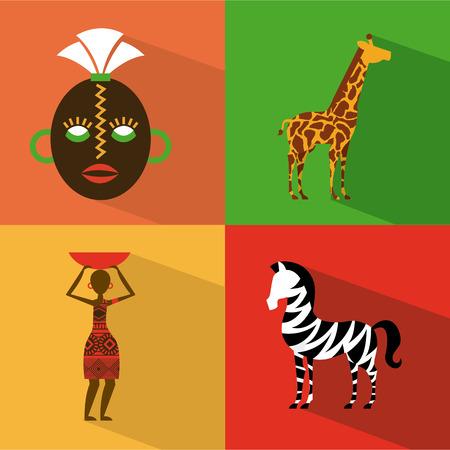 Africa design over  background, vector illustration