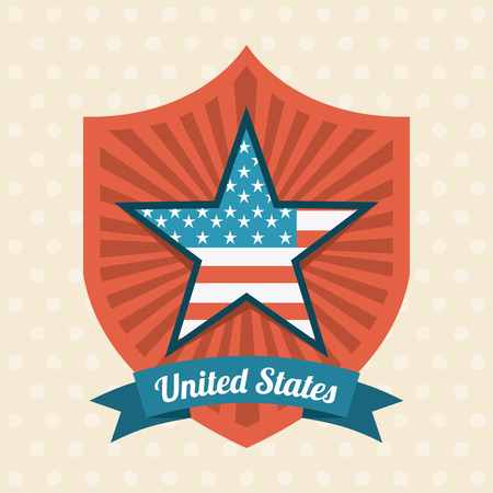 USA design over beige background Vector
