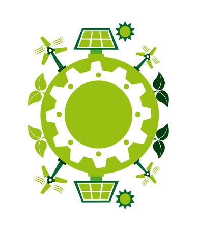 enviromental: Ecology design over white background Illustration