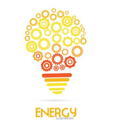 gearshift: Energy design over white background Illustration