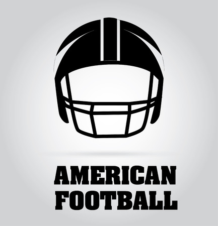 football helmet: Football design over gray background Illustration
