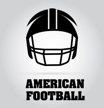 amerikalılar: Gri arka plan Futbol tasarımı Çizim