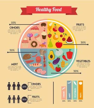Healthy food design over beige background