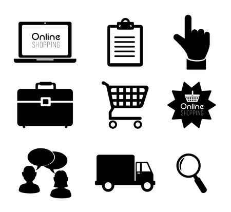 consumerism: Shopping design over white background